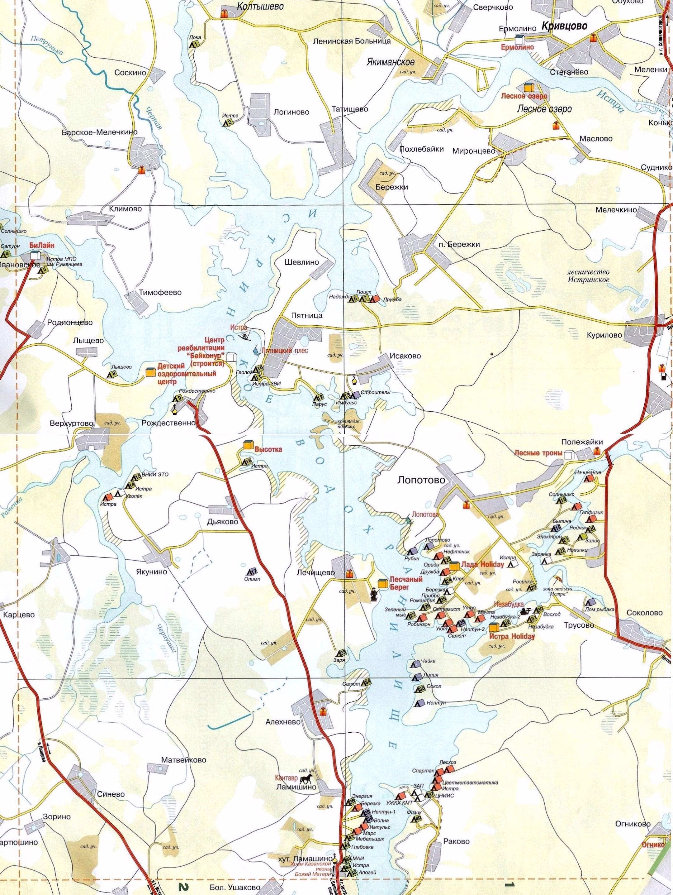 река истра рыбалка карта